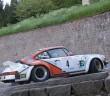 La Porsche 911 di Montini sui tornanti dolomitici