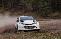 La Toyota Yaris WRC ibrida nei test Toscani