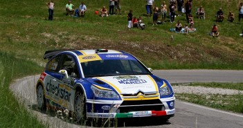 Luca Pedersoli, Matteo Romano (Citroen C4 WRC, #1);