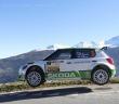 La Skoda di Lappi in azione sulle strade alpine