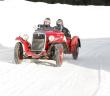 Una Fiat 508 Sport sulle nevi della Winter Race.