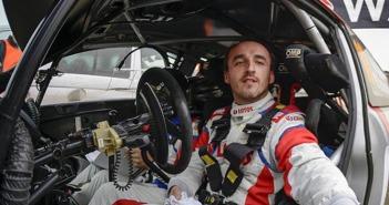 Il Polacco al volante della Fiesta WRC con la quale ha corso nel 2014