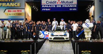 Latvala-Anttila, vincitori dell'ultima edizione del rally d'Alsazia.