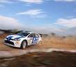 Chris Atkinson con la Golf SCRC, la WRC alla cinese costruita da Prodrive