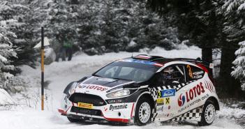 I polacchi Kajetan Kajetanowicz e Jaroslaw Baran con la Fiesta R5 allo JannerRallye
