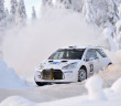 Karl Kruuda in azione all'arctic Rally prima del ritiro. Foto Toni Ollikainen