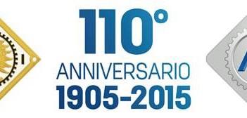 Il marchio dei 110 anni dell'Aci