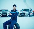 Anton Marklund con le Audi che guiderà nella nuova stagione del Mondiale Rallycross
