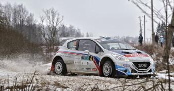 Craig Breen e Scott Martin  con la Peugeot 208 T16 ufficiale vincono il Liepaja, seconda prova del Campionato Europeo
