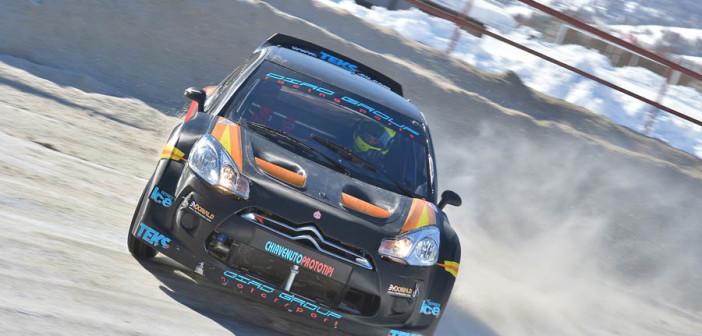 Sergio Durante con la DS3 in azione il week end passato.
