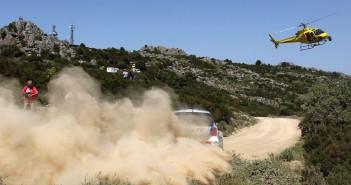 Ambientazione classica del Rally Italia Sardegna per la Volkswagen Polo R WRC di Latvala nel 2014