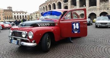 La Volvo PV544 di Margiotta-La Chiana, vincitori del Trofeo Strade Scaligere