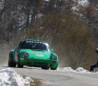 La Porsche 911 di Salvini in azione.