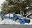 La Hyundai i20 nei test Montecarlo di quest'inverno.