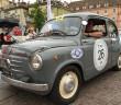 La Fiat 600 di Fortin-Pilè, vincitori della Mendola storica.