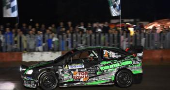La Focus WRC di Porro nella stage by night