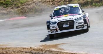 L'Audi S1 di Ekstrom in azione.
