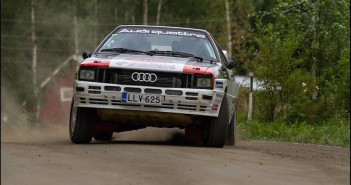 Latvala domina sulle strade di casa anche tra le auto storiche del Lahti con la sua Audi Quattro.