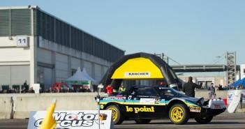 Una delle tante vetture impegnate nell'arena del Motor Circus