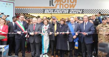 L'inaugurazione dell'edizione 2014 del Motorshow.