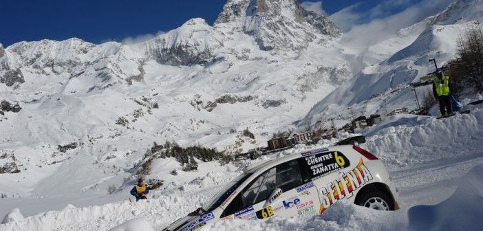 La Punto S2000 di Elwis Chentre nella passata edizione di Cervinia.