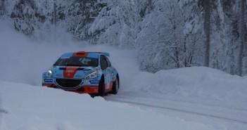 La Peugeot 208 T16 di Mika Salo in azione sulle stage Lapponi.