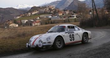 """L'Alpine Renault A110 di Daniele Perfetti e Ronnie Kessel, vincitori del """"monte"""" storico."""