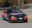 La Ford Sierra Cosworth di Daniel Alonso in azione.