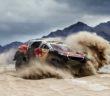 La Peugeot 2008 DKR sulla sabbia della Bolivia.