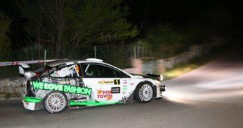 I fari della Focus WRC di Paolo Porro nella notte dell'Elba.