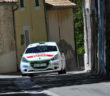 La Peugeot 208 di Carella sulle strade di Antibes.