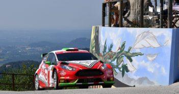 La Fiesta R5 del Giando sulle strade del Friuli.