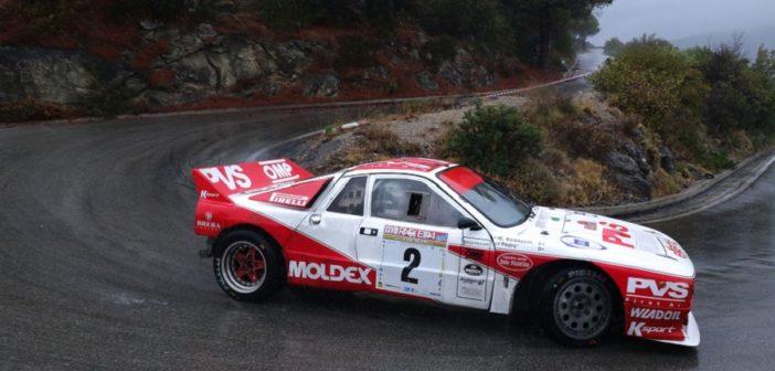 La Lancia Rally 037 di Pedro sui tornanti Elbani