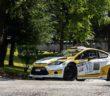 La Fiesta WRC di Chentre in azione.
