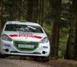 La Peugeot 208 VTI di Carella nelle foreste dei Vosgi.