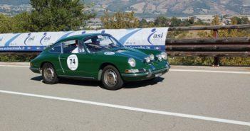La Porsche 912 dei vincitoi sulle strade Parmensi