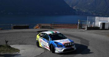Marco Signor sulla rampa di decollo del lago di Como