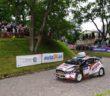 Kajto in azione sulla speciale cittadina all'Estonia Rally
