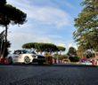 La 124 Abarth al Rally di Roma apripista con Fiorio.