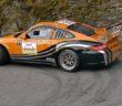 La Porsche 997 di Valliccioni al rallye du Valais.