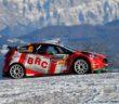 Basso e la Fiesta BRC in azione sulle strade del Montecarlo.