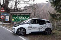 La BMW i3 di Hegyes-Ventoso nelle ricognizioni.