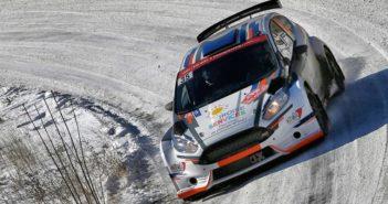 Quentin Gilbert in azione al Montecarlo con la Fiesta.