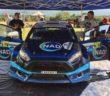 La Fiesta S2000 (omol. Naz) del vincitore all'uscita dal service.