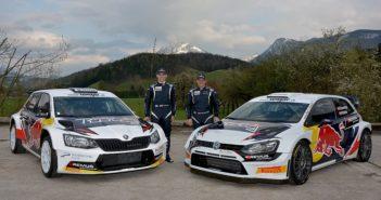 Le due vetture del gruppo Vw R5 e WRC faccia a faccia chez Baumschlager.