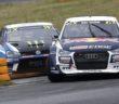 L'Audi S1 di Mattias tiene a bada lo scalpitante Kristoffersson.