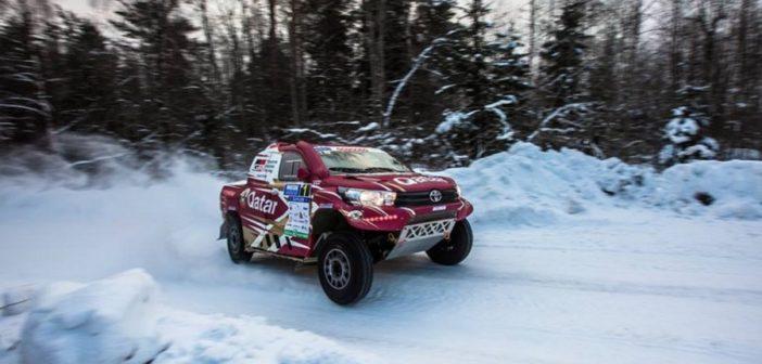 Il Toyota Hilux Overdrive domina anche sul ghiaccio.