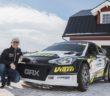 Il pilota Russo posa al fianco della sua nuova Hyundai i20 Supercar.