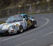 La Porsche di Bossalini in azione sulle colline Aretine.