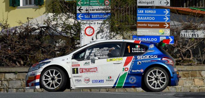 la Peugeot di Paolo Andreucci nello shakedown mattutino